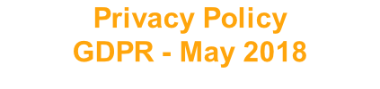 Privacy Policy GDPR - May 2018